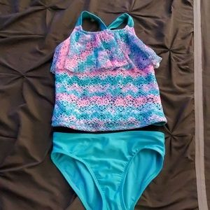 Girls 2pc swim suit 10/12